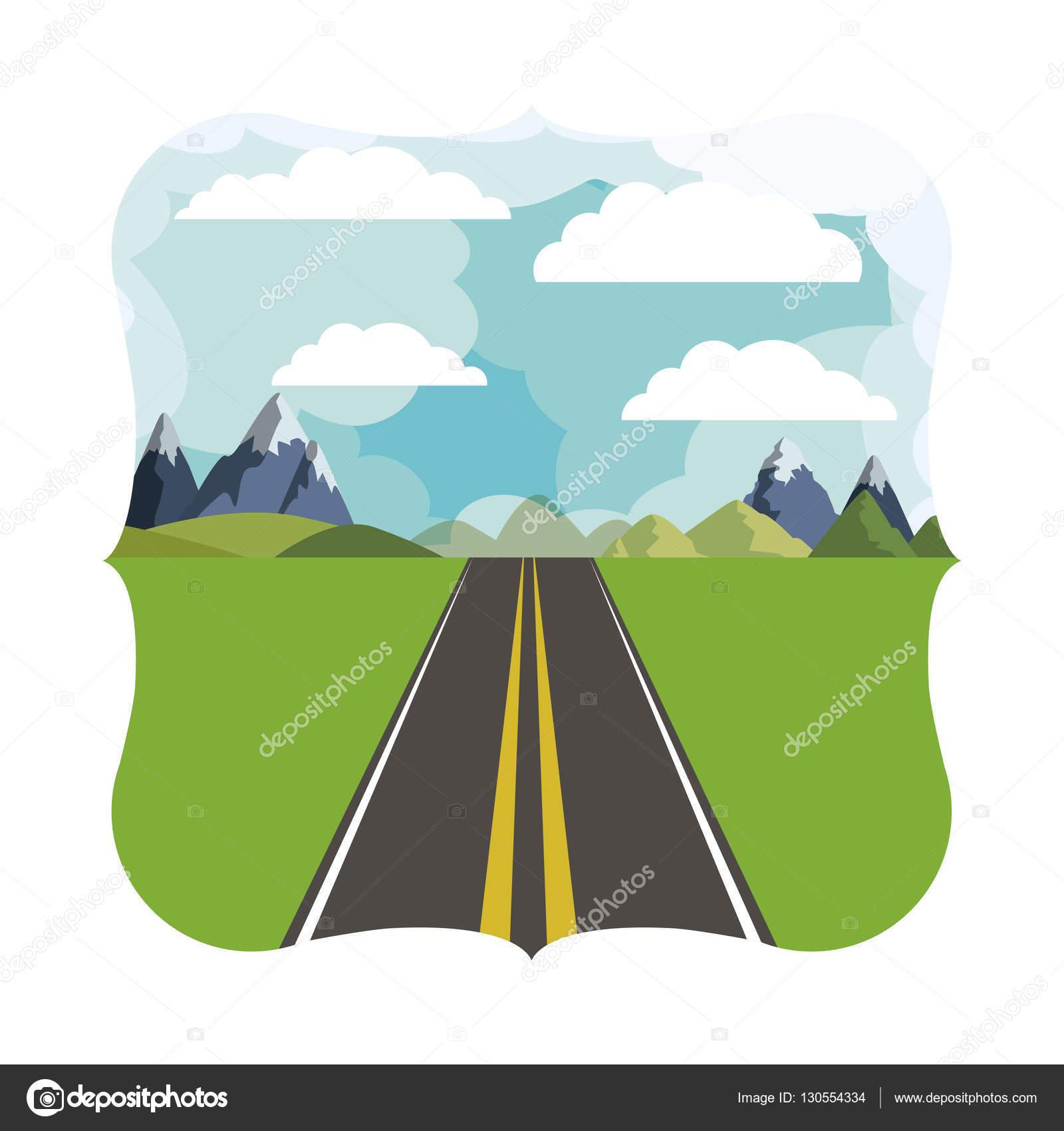 Montañas y paisajismo calle — Vector de stock © grgroupstock #130554334