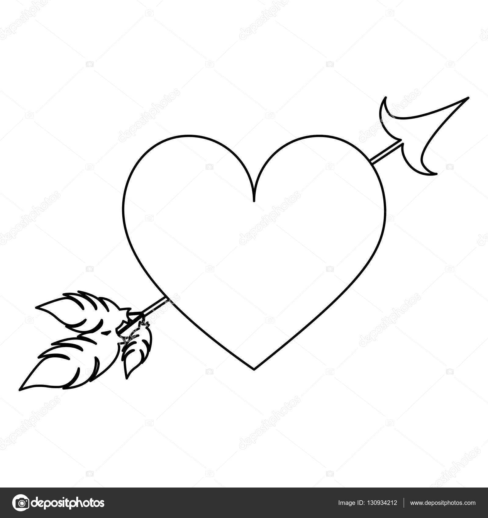 tatouage clef en coeur