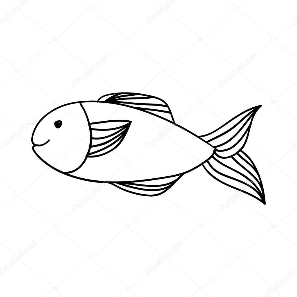 fish happy cartoon icon image