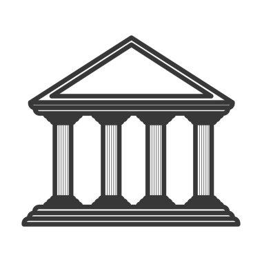 monochrome color of greek temple parthenon