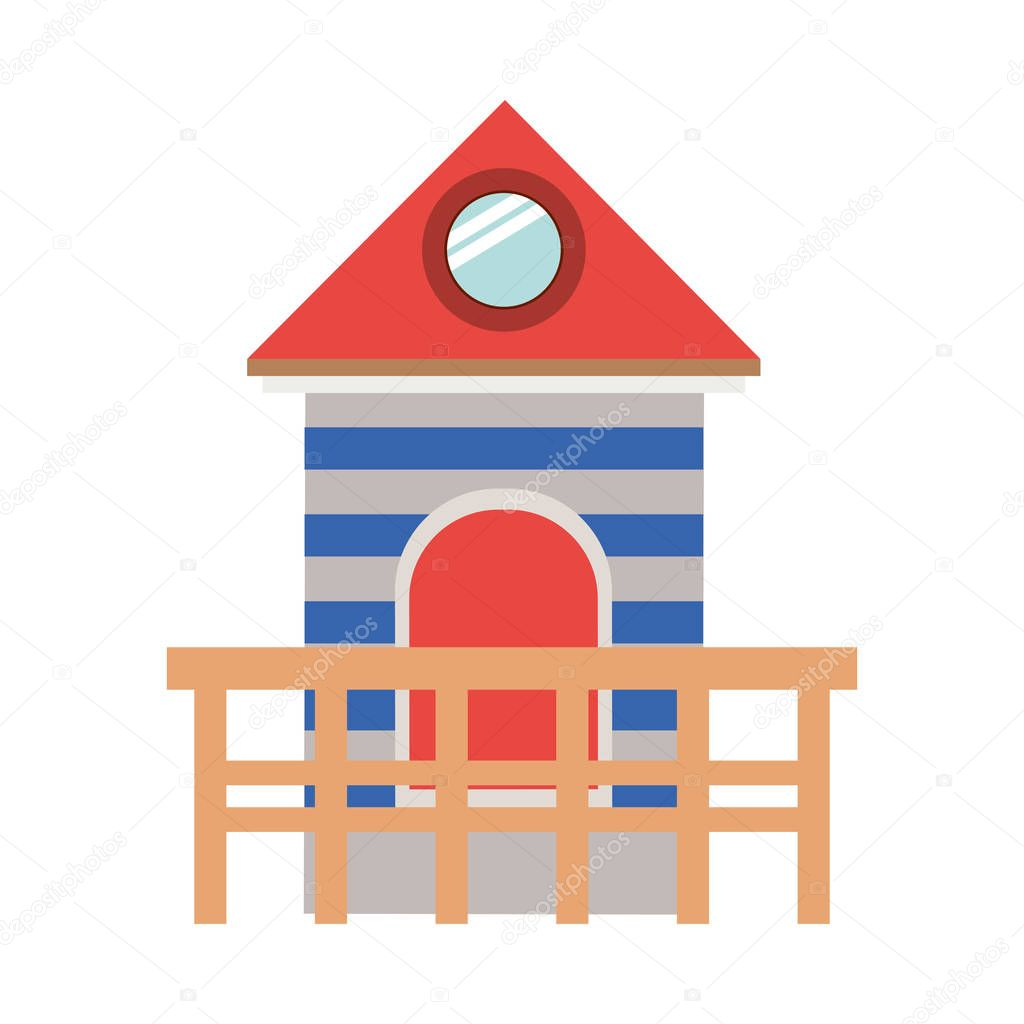 full color with lifeguard stand tower