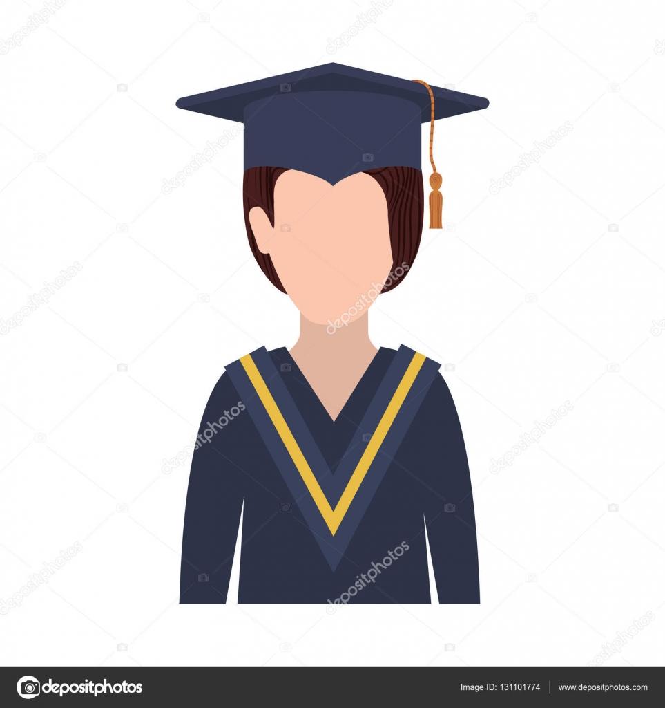 0ef19c602 Mujer de medio cuerpo con traje de graduación — Archivo Imágenes Vectoriales