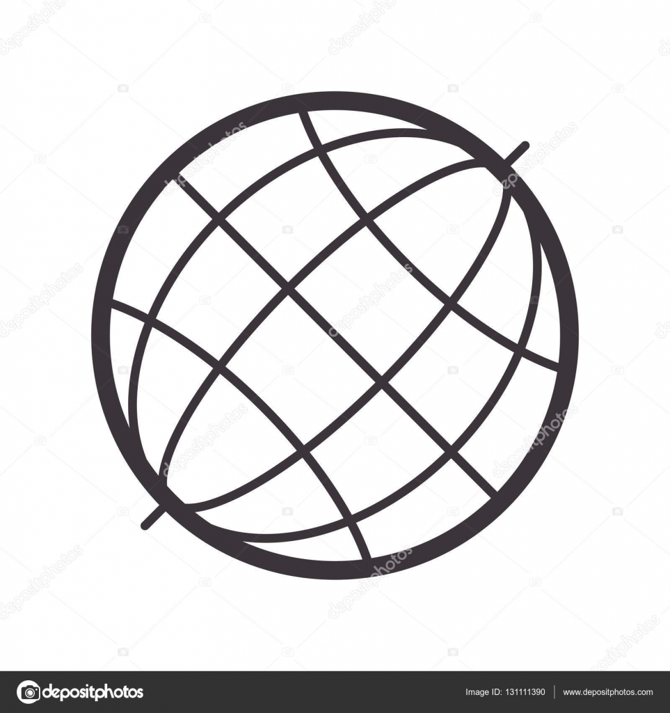 Black silhouete sphere world map stock vector grgroupstock black silhouete sphere world map vector illustration vector by grgroupstock gumiabroncs Choice Image