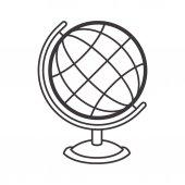 Fotografia Silhouete sfera mappamondo con base