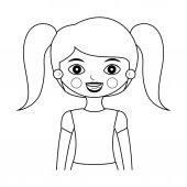 Fotografie silueta dívka polovinu těla s ohony