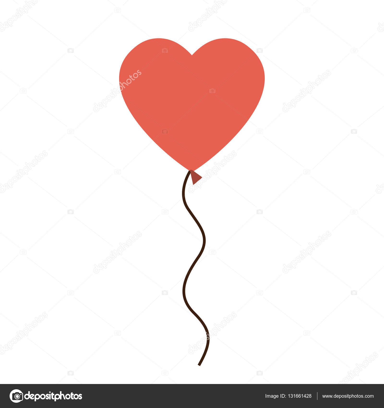 eff27353515 Ícone de balão de coração. Amo de paixão romântica e tema de decoração.  Projeto isolado. Ilustração vetorial — Vetor de grgroupstock