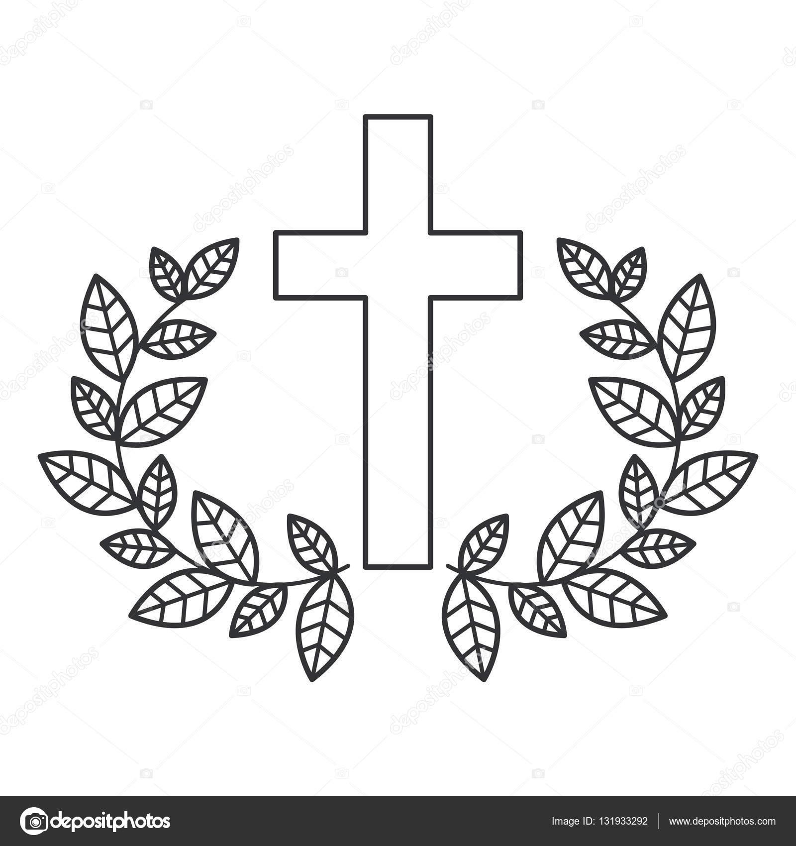 Religión aislada Cruz diseño — Vector de stock © grgroupstock #131933292