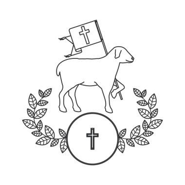 Isolated religion sheep design