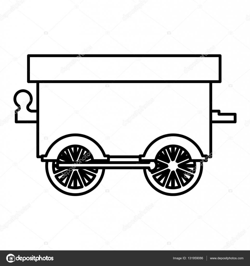 Fotos Carretas Para Dibujar Icono De Silueta Tren Carro De