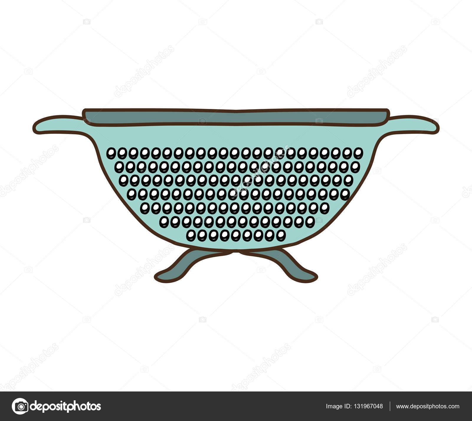 Silhouette bunt mit Küche Abtropffläche — Stockvektor © grgroupstock ...