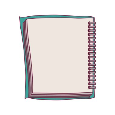 colorful notebook spiral with sheets