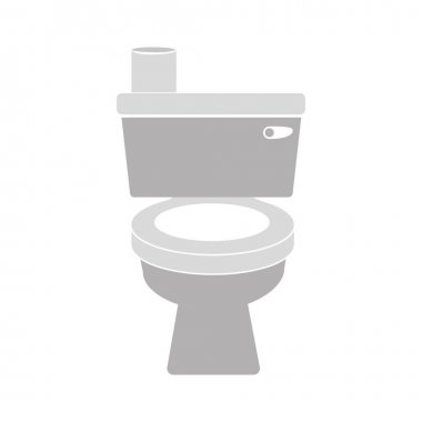 gray scale toilet with toilet paper