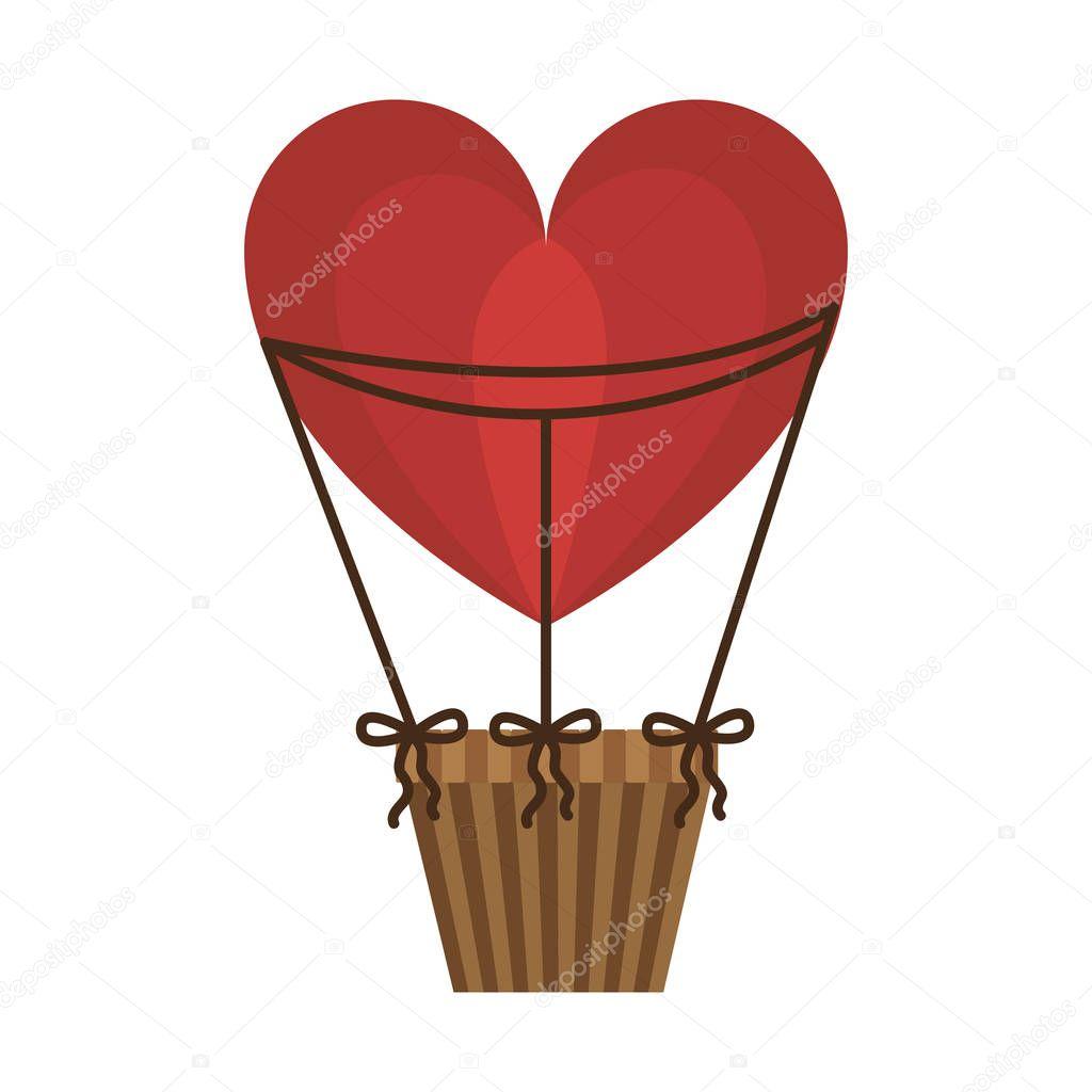 aerostats heart ballons red flying