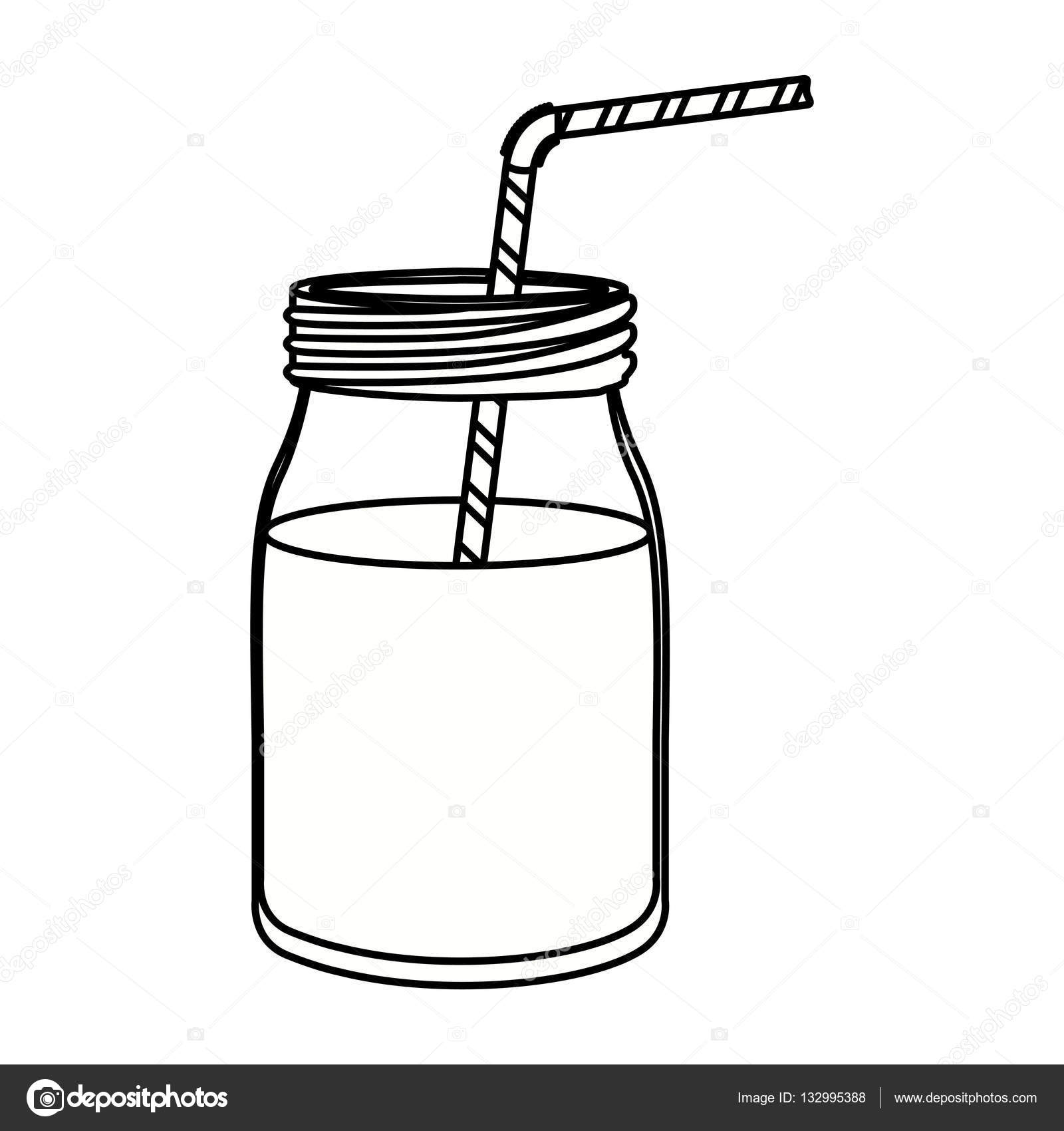 Glass With Drinking Straw Design Stock Vector 132995388. children activities more than 2000 coloring pages