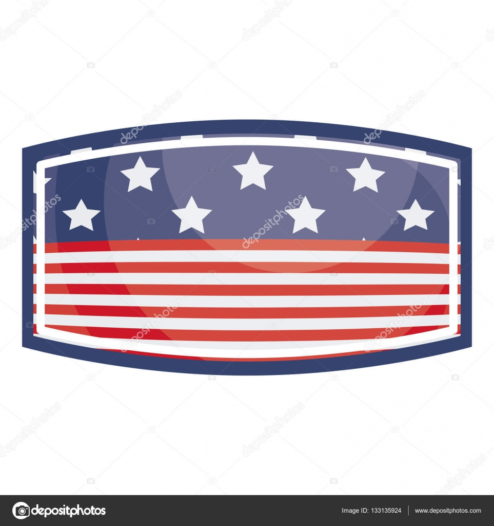 Isolierte Usa-Flagge im Rahmen-design — Stockvektor © grgroupstock ...