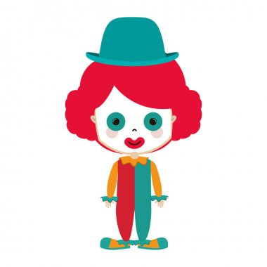 Funny small clown with hat