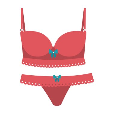 pink set lingerie with bow lace