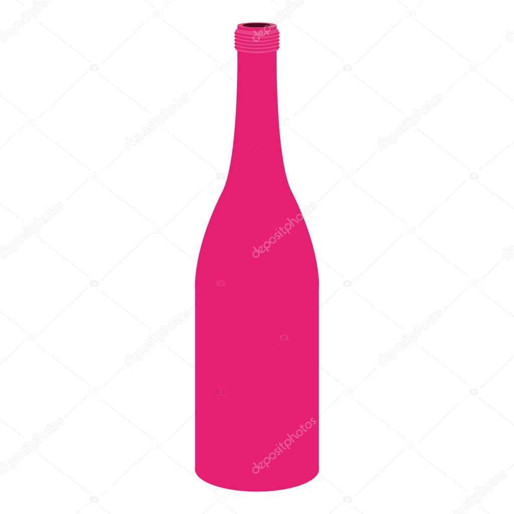 silhouette with bottle magenta color