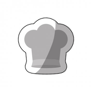 dotted sticker of chefs hat shading and small