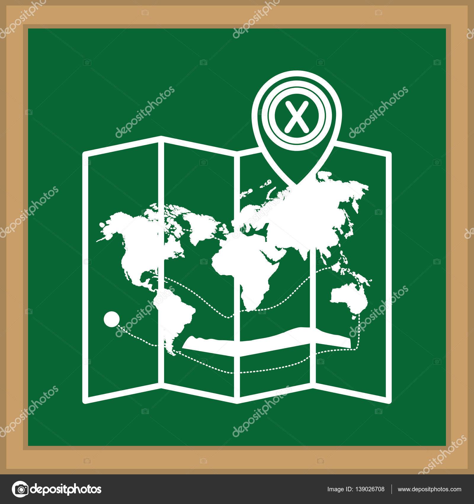 forma de tablero con silueta de mapa de la estructura del mundo ...