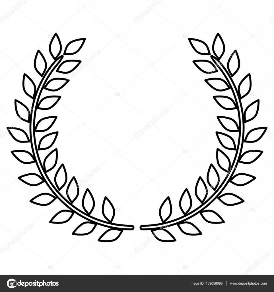 wreath leaves ornament stock vector grgroupstock 139058098