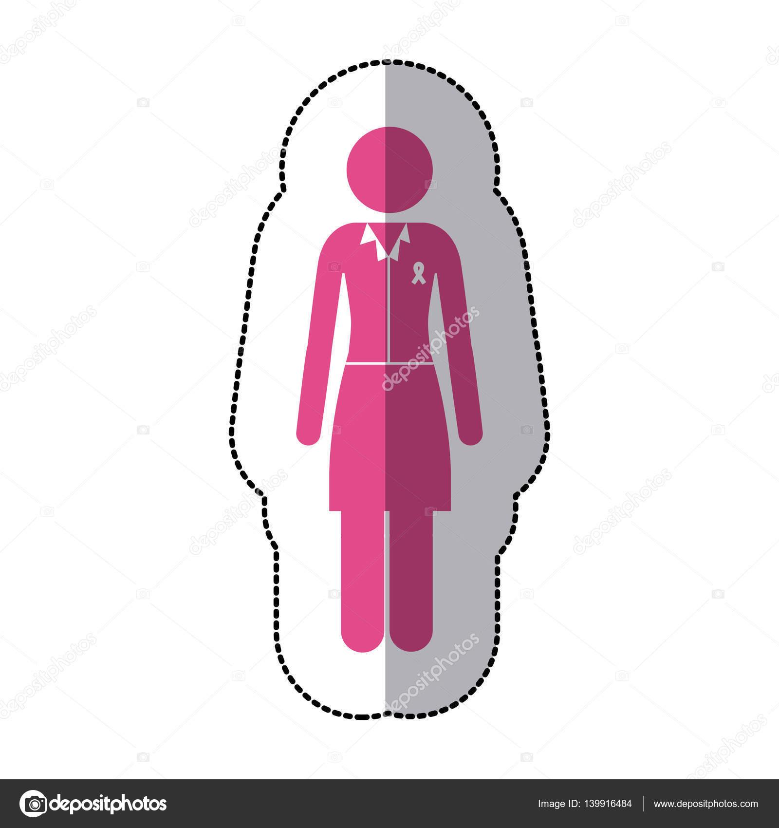 rosa bandet klistermärke