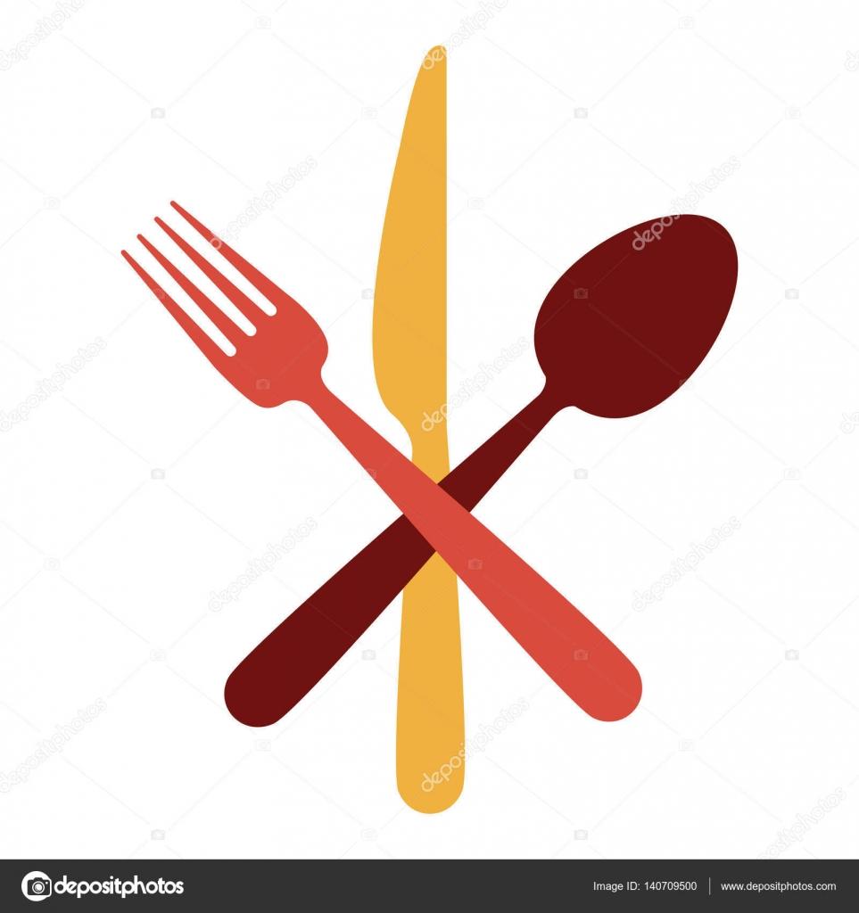 Utens lios de cutelaria de restaurante vetor de stock for Utensilios de restaurante