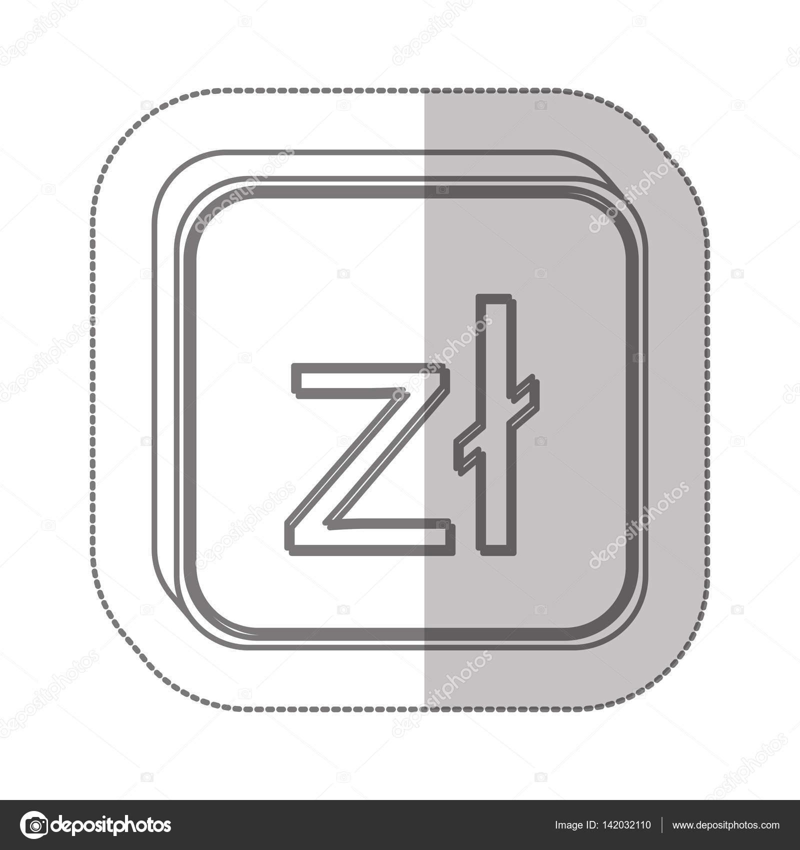 Polish Zloty Currency Symbol Icon Stock Vector Grgroupstock