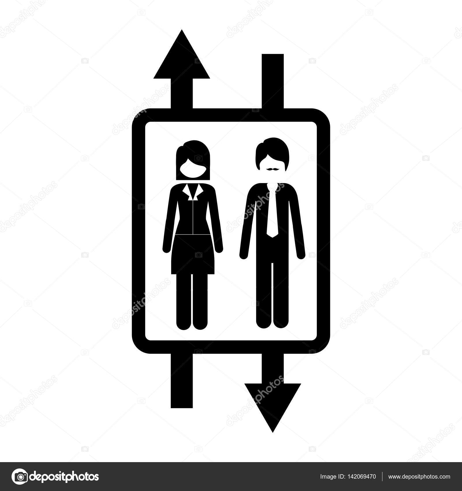 people inside elevator. elevator with people inside icon \u2014 stock vector #142069470