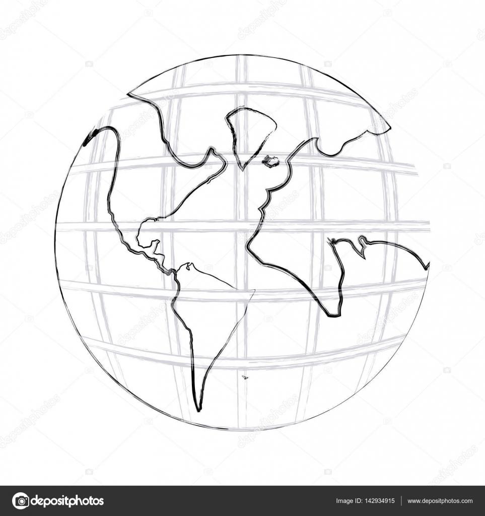 Dibujo Mapa Del Mundo Continentes.Imagenes Los Continentes Dibujo Dibujo Del Mapa Del Mundo