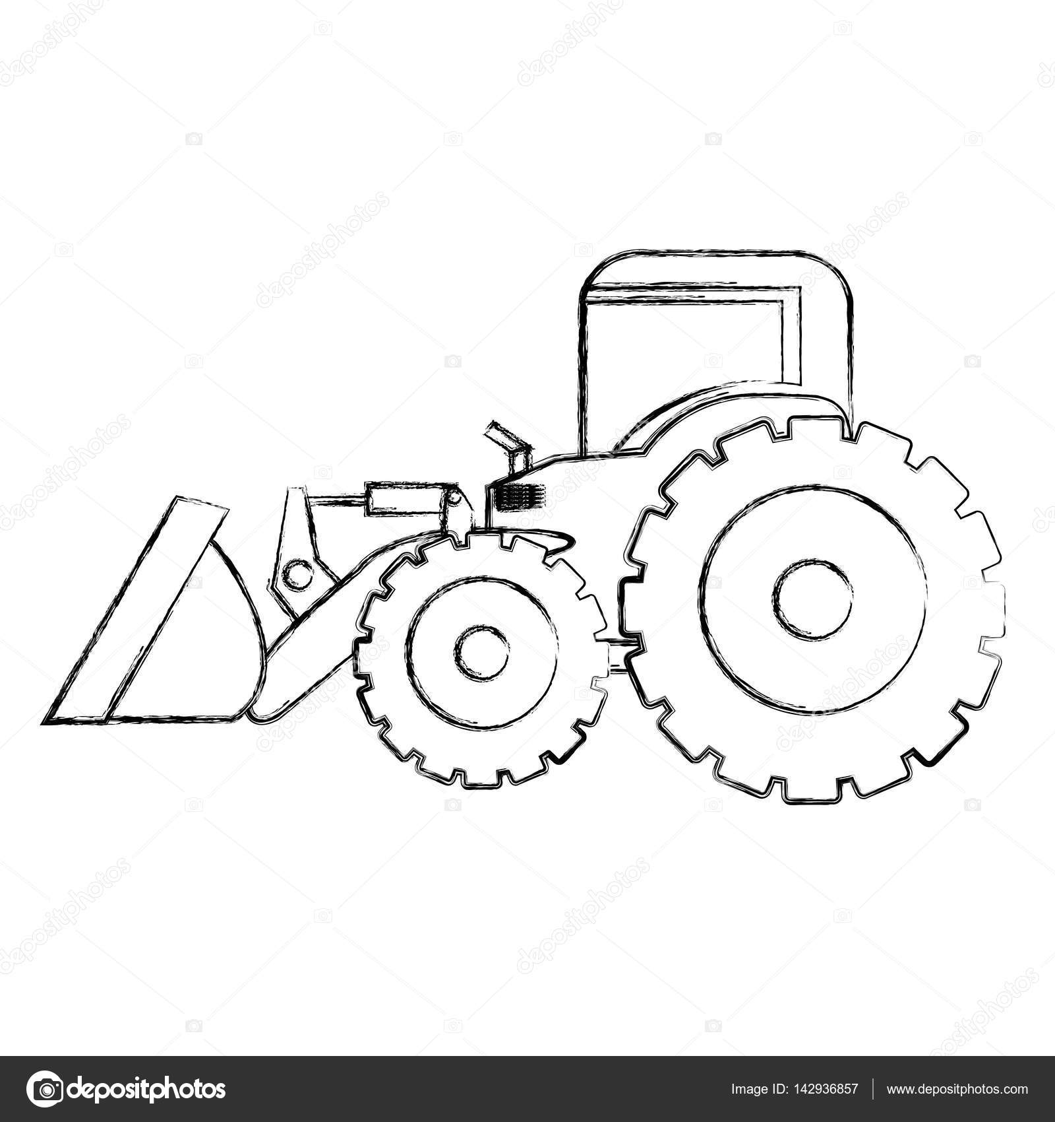 kleurplaat trekker met kar kleurplaat tractor met boer