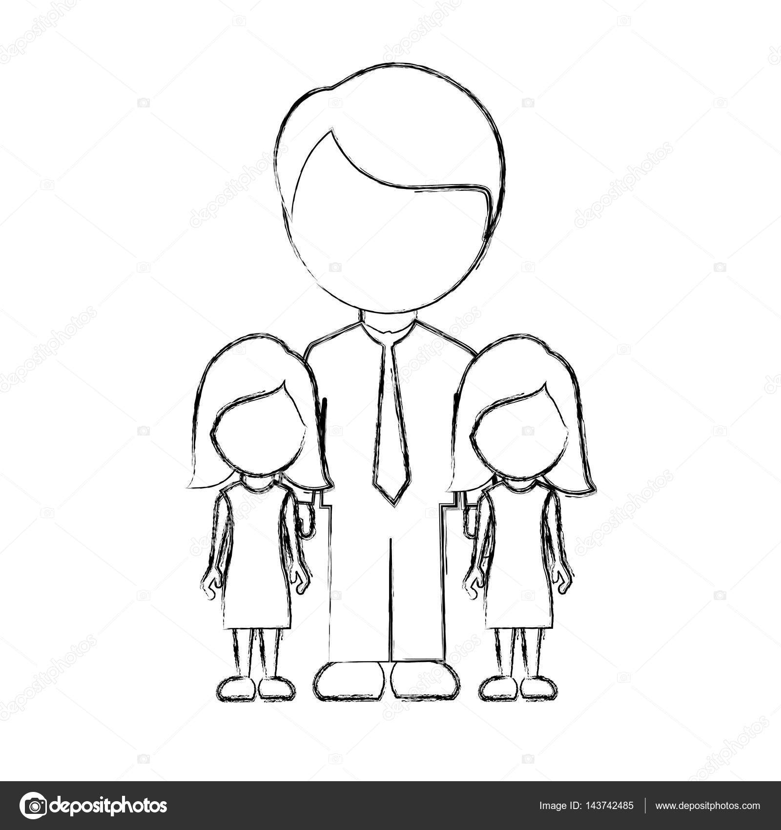 Figure man her girls twins icon stock vector grgroupstock figure man her girls twins icon stock vector pooptronica Image collections