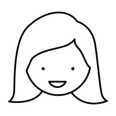 figure sticker face woman icon