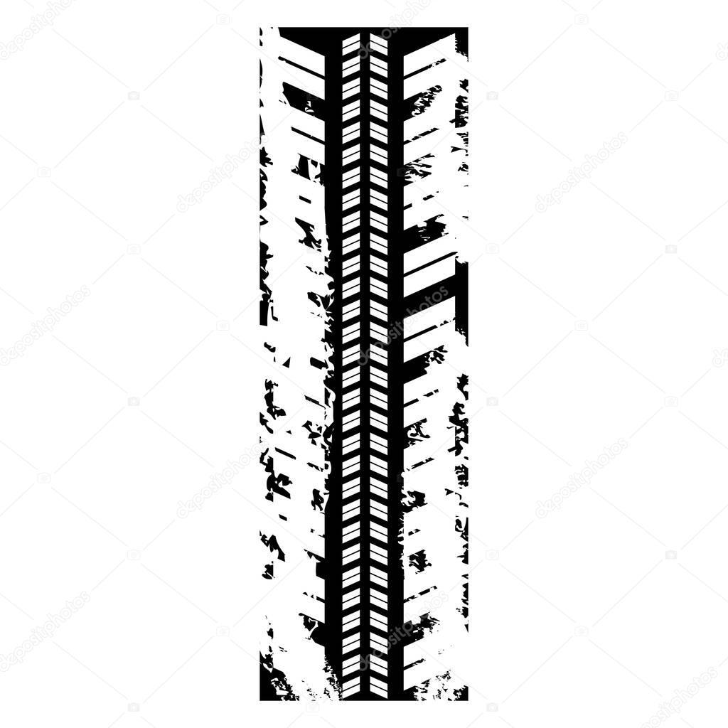figure car trace icon