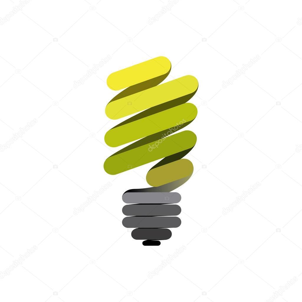 sticker eco bulb icon