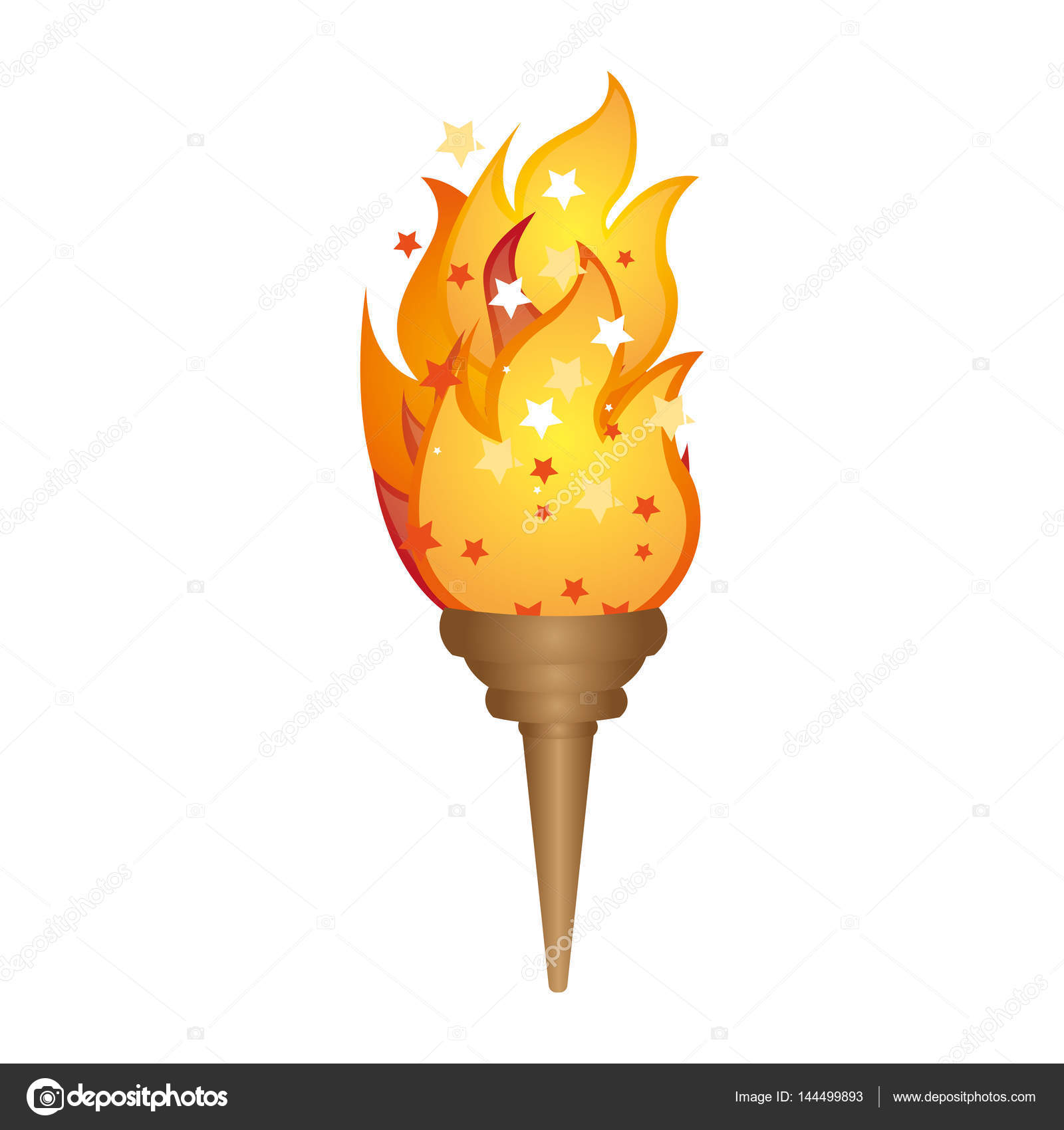 olympic torch with yellow flame — Stock Vector © grgroupstock ... for Olympic Torch Fire  5lpkxo