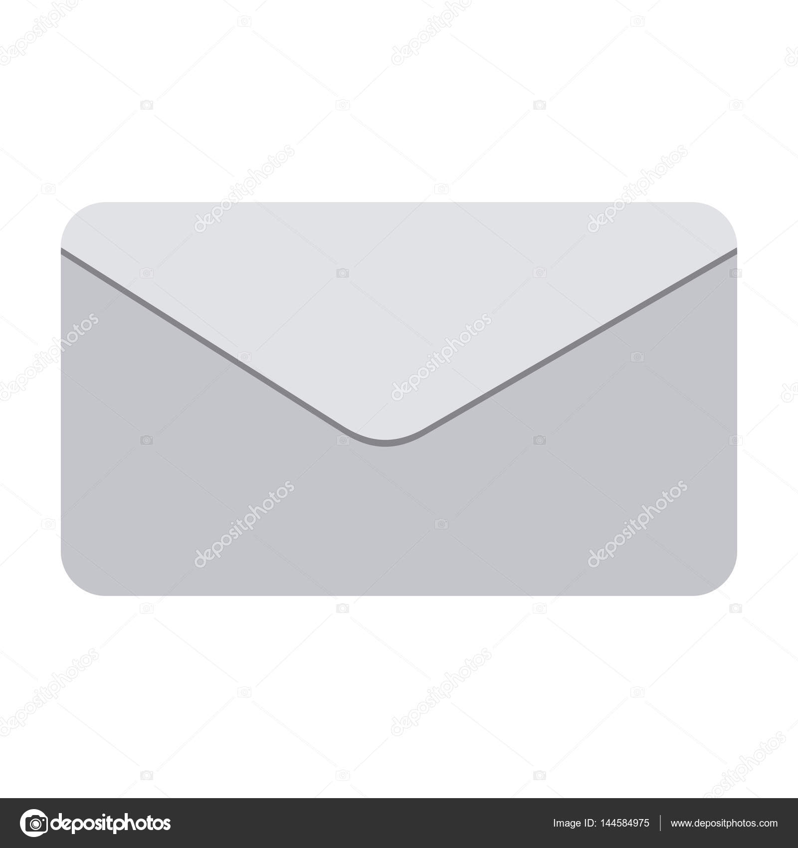 silueta en escala de grises con sobres de correo u vector de stock