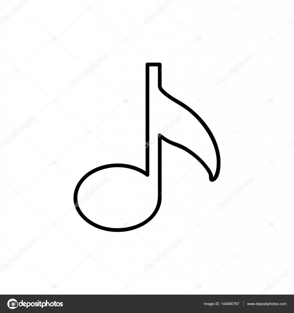 音符とモノクロの輪郭 ストックベクター Grgroupstock 144590767