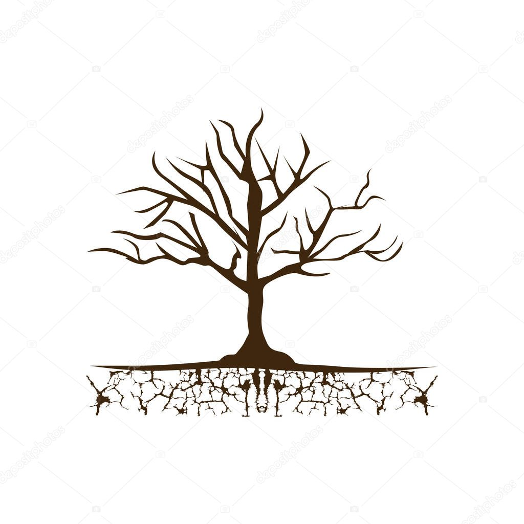 color tree without leaves icon