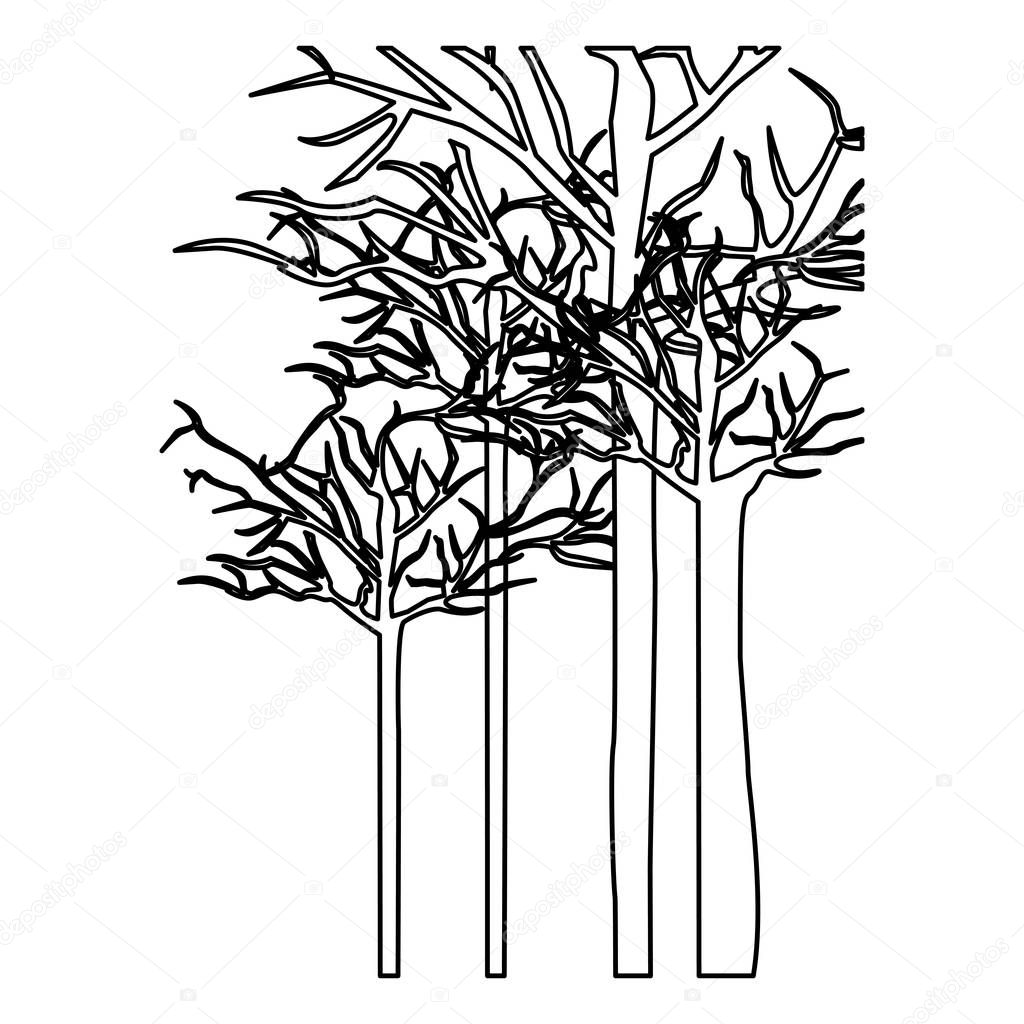 figure trees without leaves icon