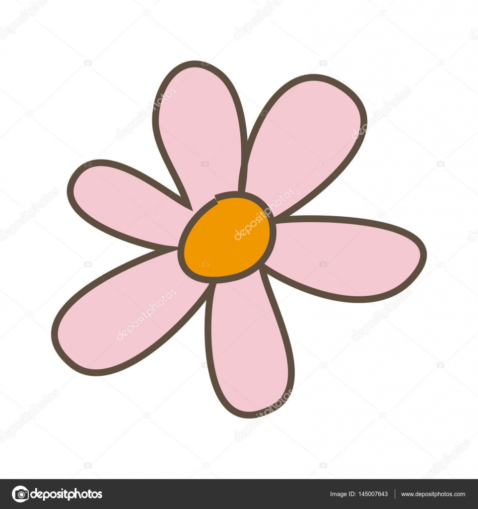 Pink flower with oval petals icon stock vector grgroupstock pink flower with oval petals icon stock vector 145007643 dhlflorist Images