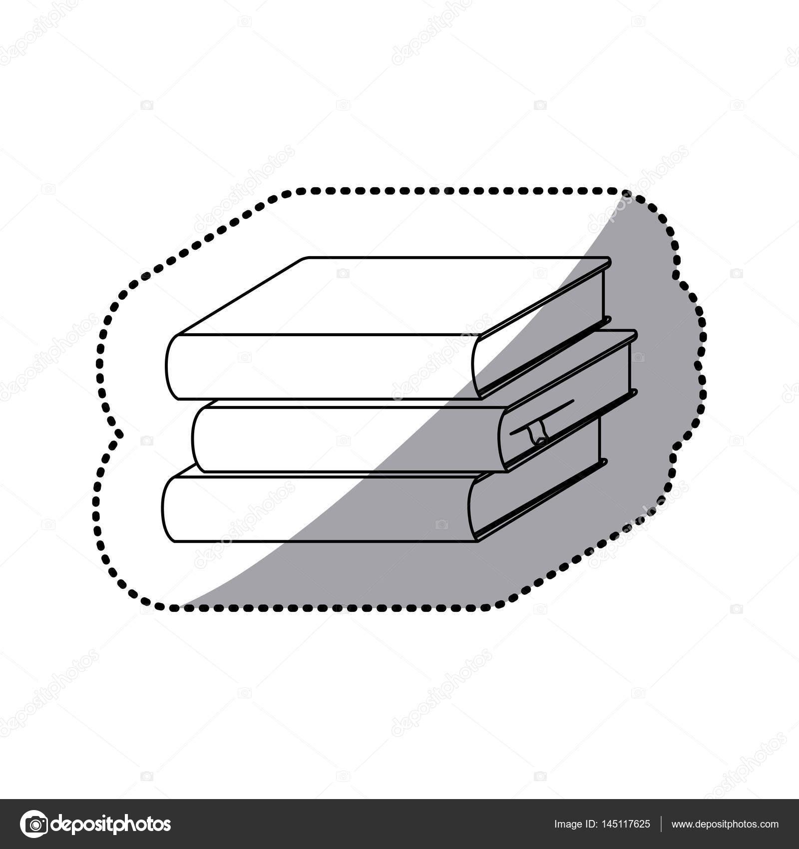 samolepka siluety nastavit ikonu zásobník knihy školy — Stock Vektor ... 4b8a3155f5