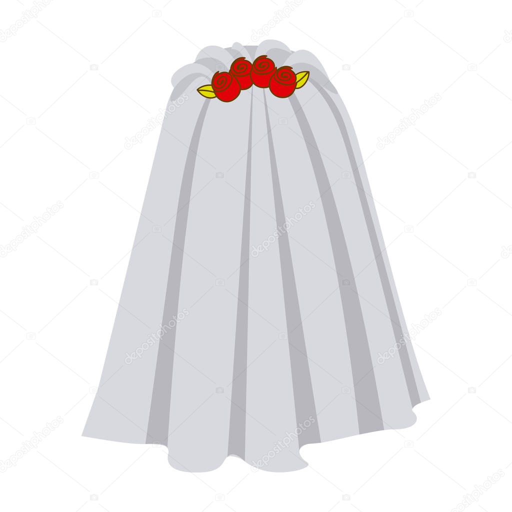 colorful silhouette costume veil bride with roses