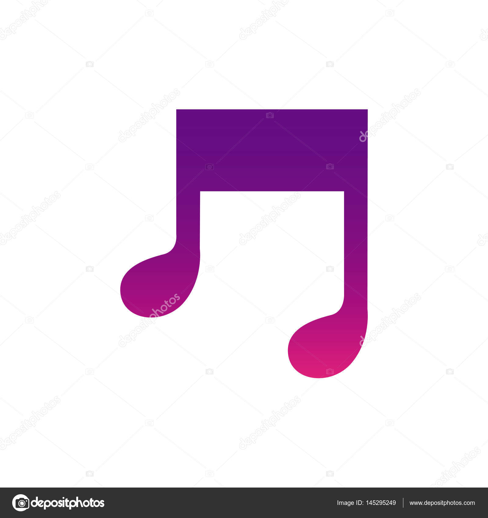 Purple Music Sign Icon Stock Vector C Grgroupstock 145295249