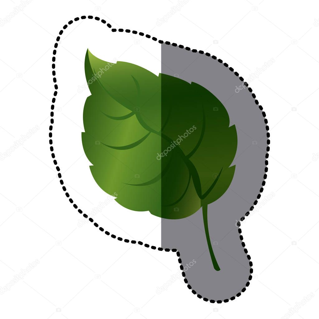 green leaf contrast icon