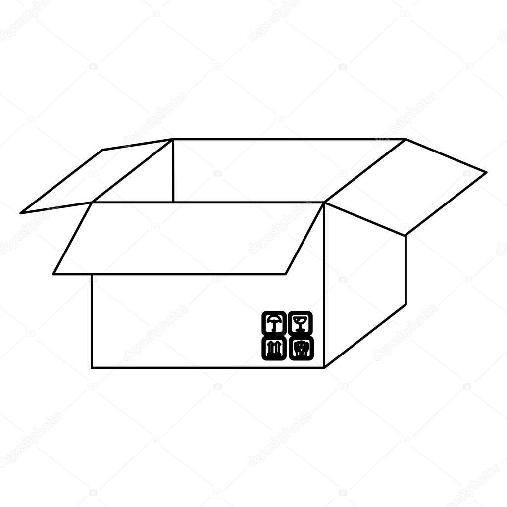 figure box open with symbols icon