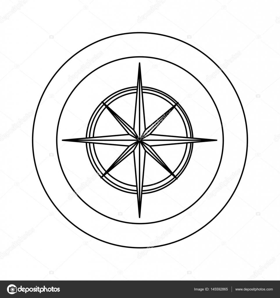 figure symbol compass star icon — Stock Vector © grgroupstock #145592865