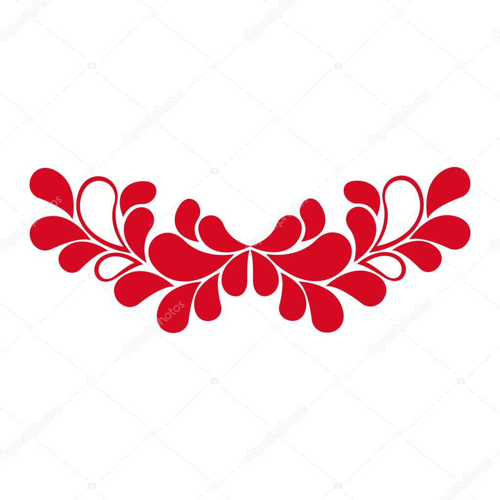 colorful ornament with leaves decorative design