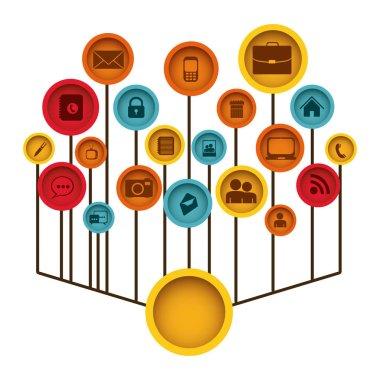 color tech icons web site