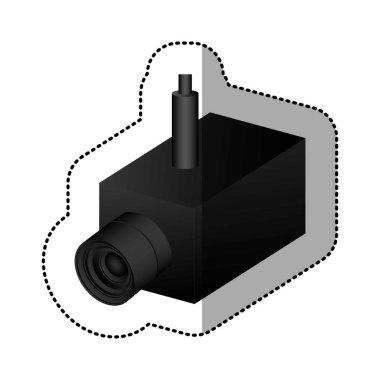 black video camera interior icon